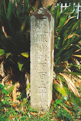 樹木園由来の碑