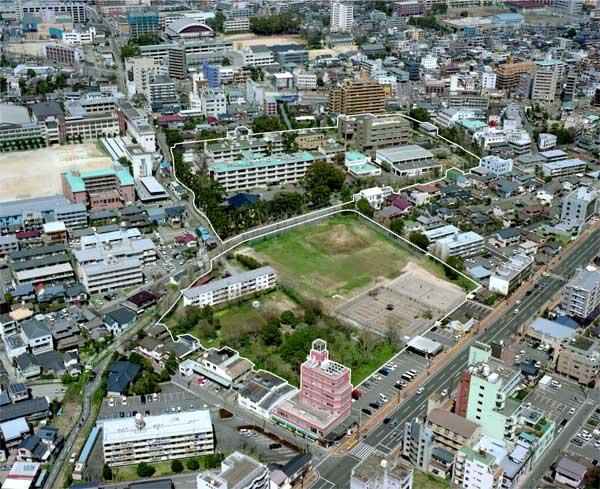 大江キャンパス(H17年撮影)南西方向より