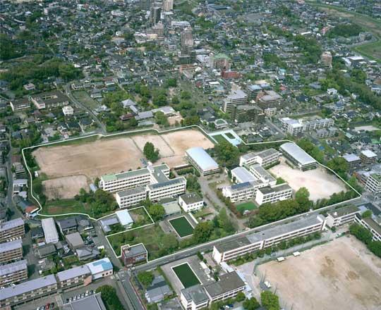京町キャンパス(H18年撮影)南西方向より