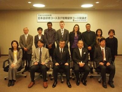 平成26年度前期熊本大学国際化推進センター日本語研修コース及び熊本大学短期留学コース開講式の開催