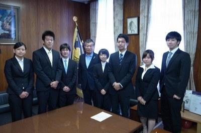 トビタテ!留学JAPAN日本代表プログラム採用者を谷口学長が激励