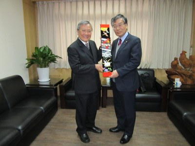 谷口学長が南台科技大学開学45周年記念式典に出席