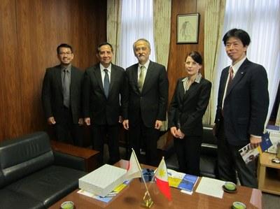 フィリピン アテネオ・デ・マニラ大学副学長が原田学長を表敬訪問
