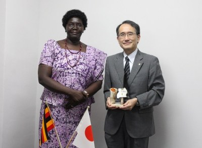 ウガンダ大使表敬訪問
