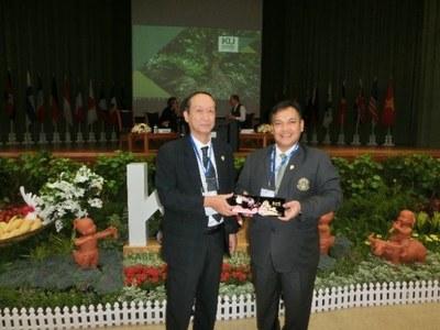 タイ王国 カセサート大学の創立75周年記念学長フォーラムに参加