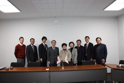 韓南大学校(大韓民国)国際交流所長らが本学を表敬訪問